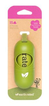 Earth Rated Eco-Friendly Poepzakjes Dispenser Lavendel (15 st.)